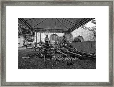 This Is The Philippines No.8 - The Roasting Framed Print by Paul W Sharpe Aka Wizard of Wonders