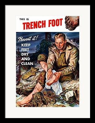 Trenches Framed Prints
