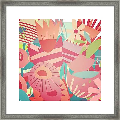 Magic Flower Mashup Framed Print