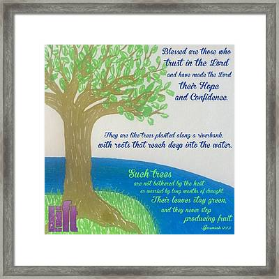"""This Is What The Lord Says: """"cursed Framed Print"""