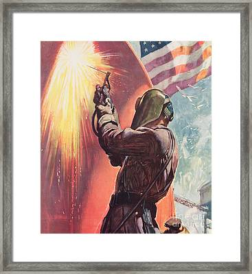 This Is Your Firing Line Dont Slow Up The Ship Framed Print by American School