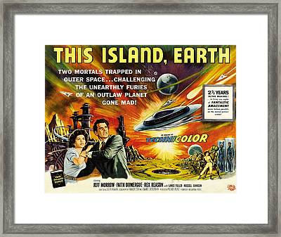 This Island Earth, Faith Domergue, Rex Framed Print by Everett