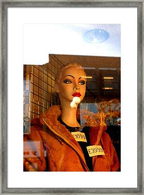 This Jacket Is Not Me Framed Print by Jez C Self