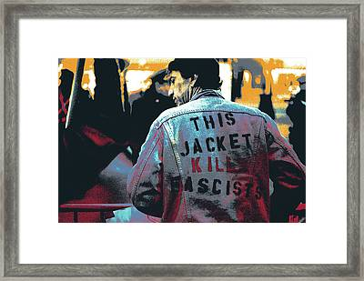This Jacket Kills Fascists Framed Print by Shay Culligan