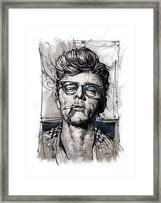 This James Dean Inking And Painting Framed Print