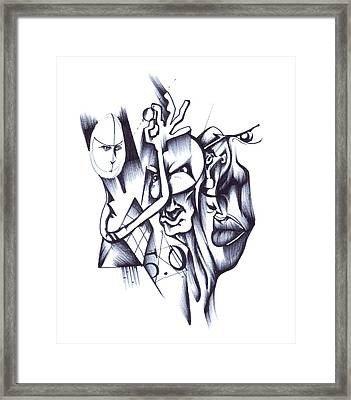 Framed Print featuring the drawing This by Keith A Link