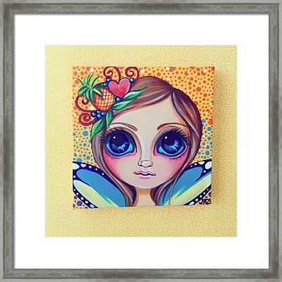 This Little Faery Cutie Today Flew Into Framed Print by Jaz Higgins