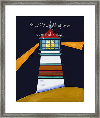 This Little Light Of Mine Framed Print by Glenna McRae