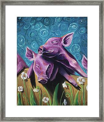 This Little Piggy Framed Print by Julie Fernandez