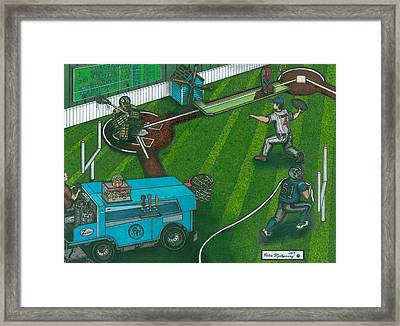 This Makes About As Much Sense As A Football Bat Framed Print by Richie Montgomery