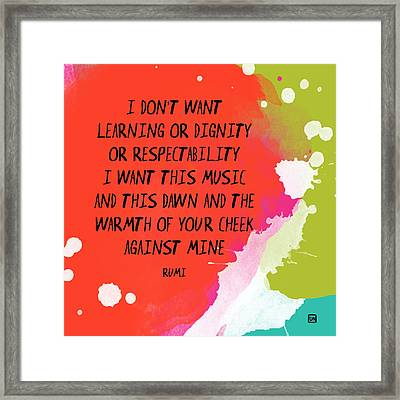 Framed Print featuring the painting This Music by Lisa Weedn