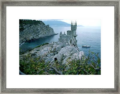 This Neo-gothic Castle Overlooks Framed Print by Steve Raymer