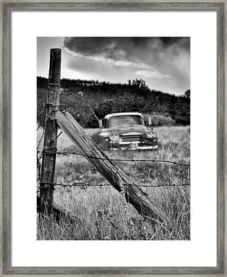 This Ol Truck Don't Give A... Framed Print by Kevin Munro