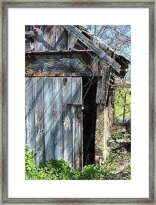 This Old Barn Door Framed Print