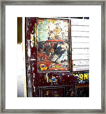 Framed Print featuring the photograph This Old Door Has Got Enough by Don Struke
