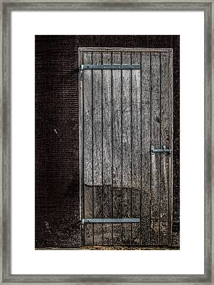 This Old Door Framed Print