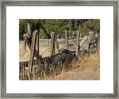 This Old Fence Framed Print by Charlie Osborn