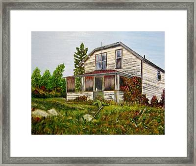 Framed Print featuring the painting This Old House by Marilyn  McNish