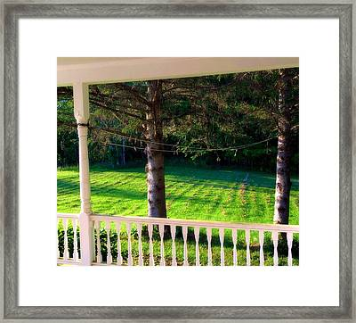 This Old Porch Framed Print