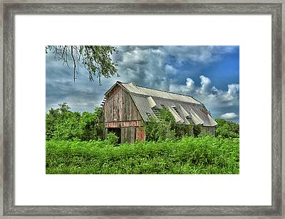 This Old Red Barn Framed Print