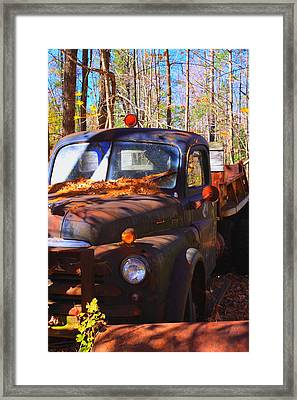 This Old Truck Framed Print by Tom Johnson