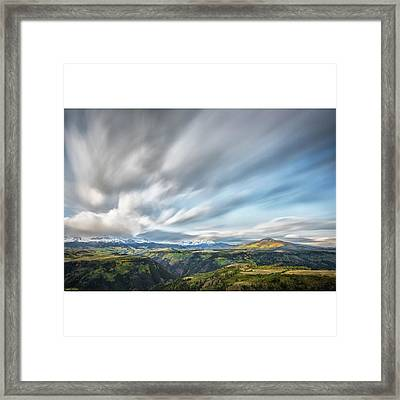 This Photograph Was Taken At A Meadow Framed Print