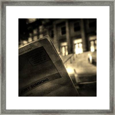 This Place Seems To Be Summoning Me Framed Print
