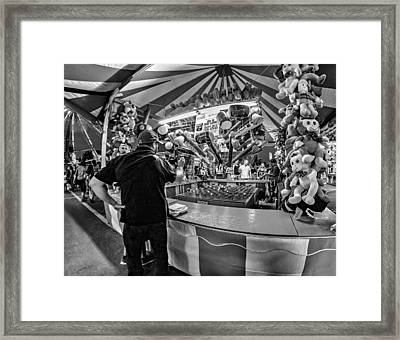 This Should Be Easy - Bw Framed Print