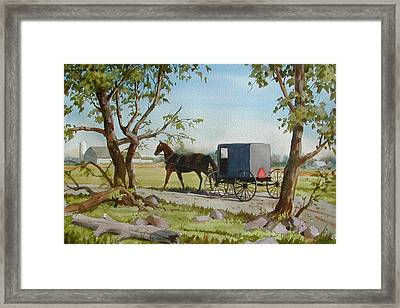 This Side Of Paradise Framed Print by Faye Ziegler