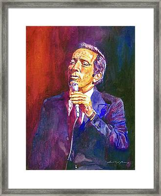 This Song Is For You - Andy Williams Framed Print by David Lloyd Glover