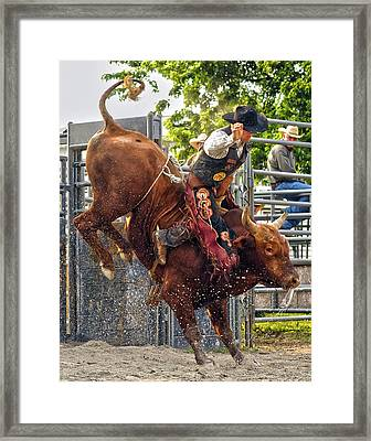 This Thing They Call Rodeo Framed Print by Ron  McGinnis