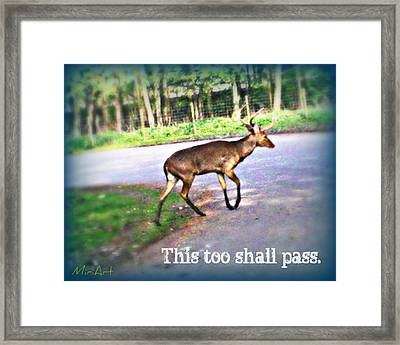 This Too Shall Pass Framed Print by Miriam Shaw