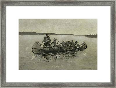 This Was A Fatal Embarkation Framed Print by Frederic Remington