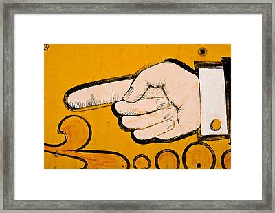 This Way Framed Print by Craig Perry-Ollila