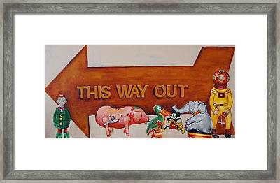 This Way Out Framed Print