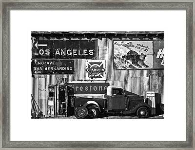 This Way To L.a. Framed Print