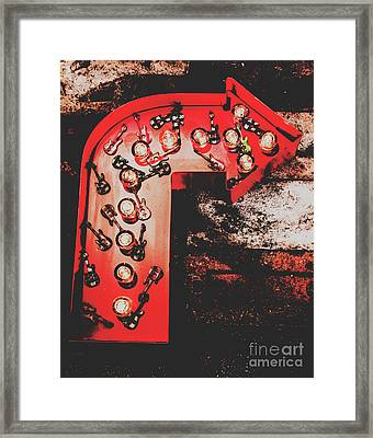This Way To Rock City Framed Print