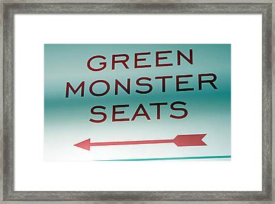 This Way To The Green Monster Seats Framed Print