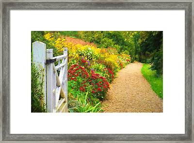 This Way To The Summer Garden Framed Print by ShabbyChic fine art Photography