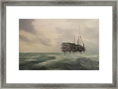 Thistle Alpha-north Sea Framed Print