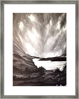 Thistle Do Nicely Framed Print