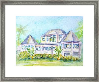 Thistle Lodge Casa Ybel Resort  Framed Print by Carlin Blahnik
