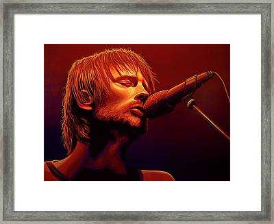 Thom Yorke Of Radiohead Framed Print by Paul Meijering