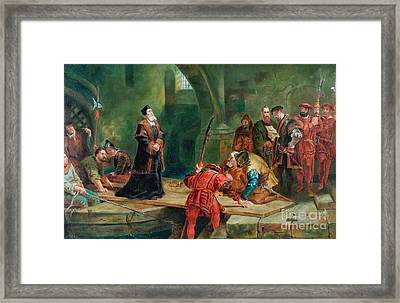 Thomas Cranmer At The Traito Framed Print by MotionAge Designs