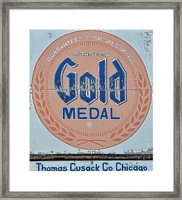 Thomas Cusack Co Chicago Vintage Metal Sign Framed Print