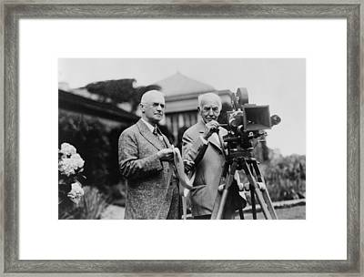 Thomas Edison 1847-1931 And George Framed Print