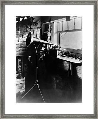 Thomas Edison Ca. 1906 Framed Print by Everett