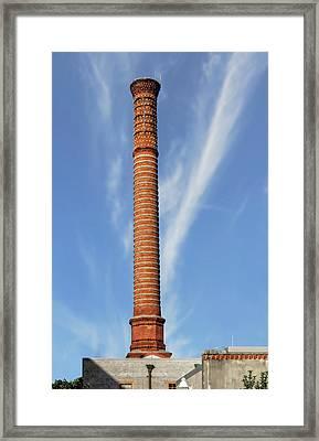 Framed Print featuring the photograph Thomas Edison Generator Smokestack St. Augustine   -   Edisonsmokestack123159 by Frank J Benz