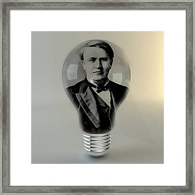 Thomas Edison Framed Print by Marvin Blaine
