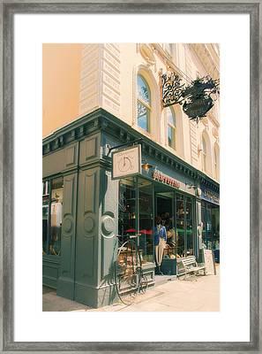 Bloomsbury London Shops Framed Print